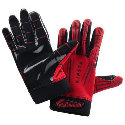 Červené ragbyové rukavice Kipsta