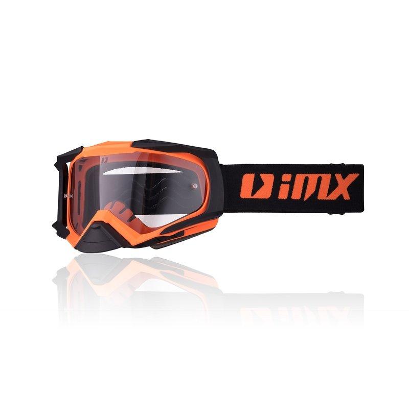 Černo-oranžové motorkářské brýle Strata, inSPORTline