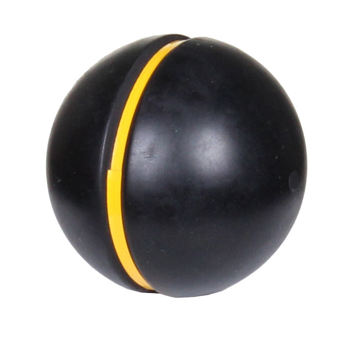 Černý gumový kriketový míček