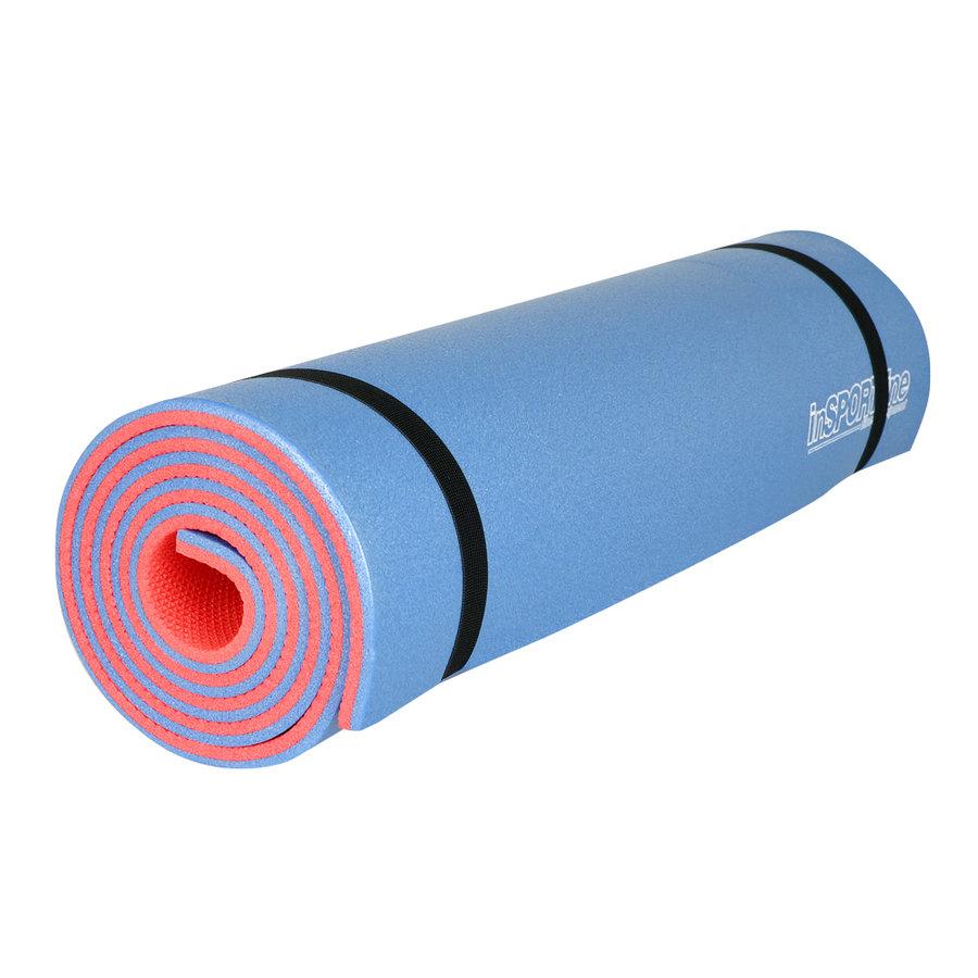 Modro-oranžová podložka na cvičení Insportline - tloušťka 1 cm