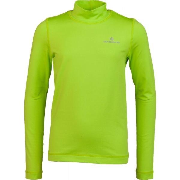 Zelené dětské funkční tričko s dlouhým rukávem Arcore