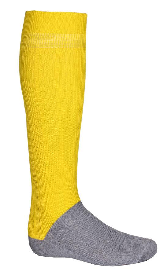 Žluté fotbalové štulpny Classic, Merco - velikost senior