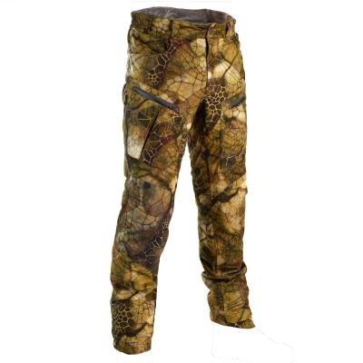 Hnědo-zelené lovecké kalhoty Solognac