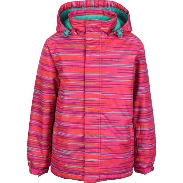 Růžová dívčí bunda Lewro