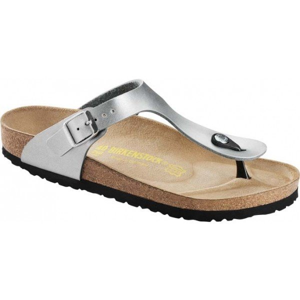 Stříbrné dámské pantofle Birkenstock - velikost 41 EU