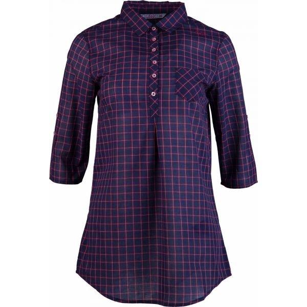 Fialová dámská košile s krátkým rukávem Willard