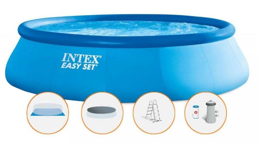 Nafukovací nadzemní kruhový bazén - průměr 457 cm a výška 107 cm