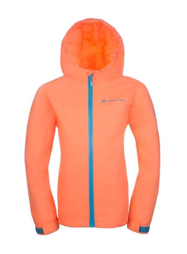 Oranžová dětská zimní bunda s kapucí Alpine Pro