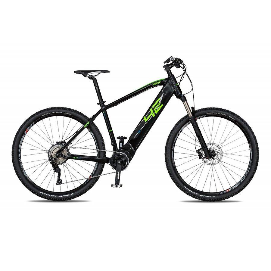 Černo-zelené horské unisex elektrokolo 4EVER