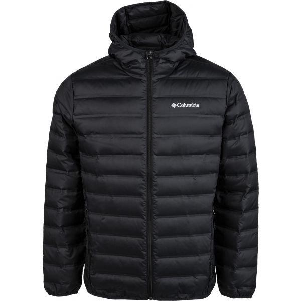 Černá zimní pánská turistická bunda s kapucí Columbia