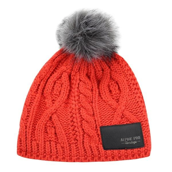 Oranžová zimní čepice Alpine Pro - velikost L