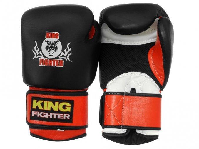 Černo-červené boxerské rukavice King fighter