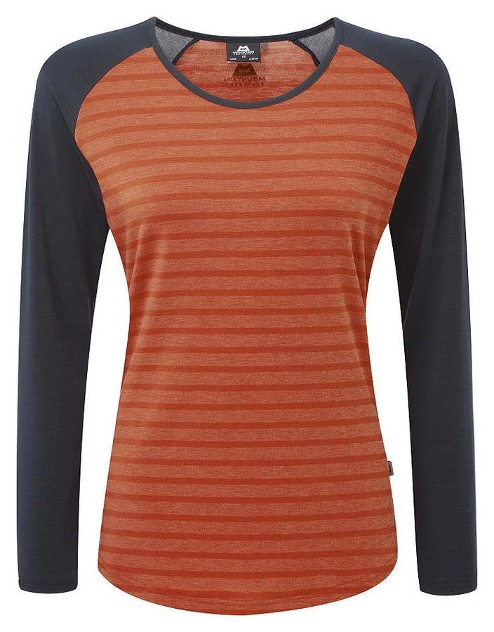 Modro-oranžové dámské turistické tričko s dlouhým rukávem Mountain Equipment