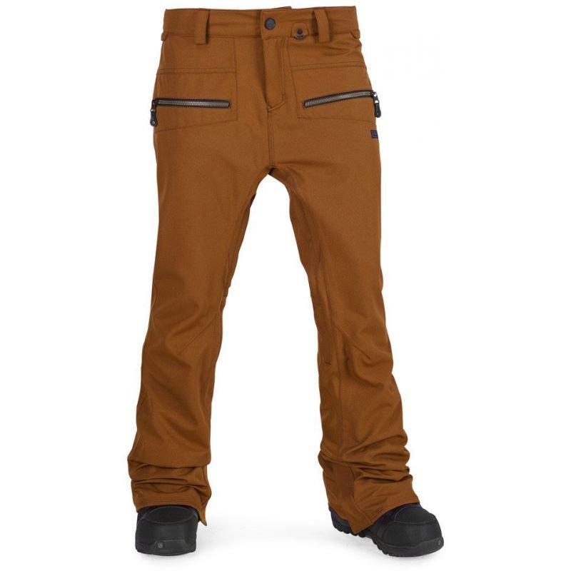 Hnědé dámské snowboardové kalhoty Volcom - velikost S