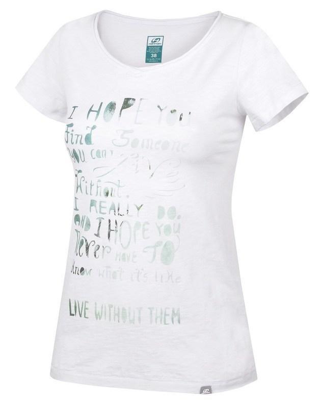 Bílé dámské tričko s krátkým rukávem Hannah - velikost 34