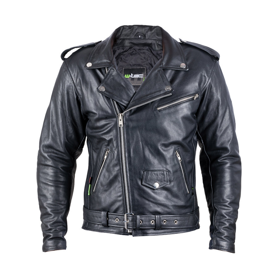 Černá pánská motorkářská bunda Perfectis, W-TEC