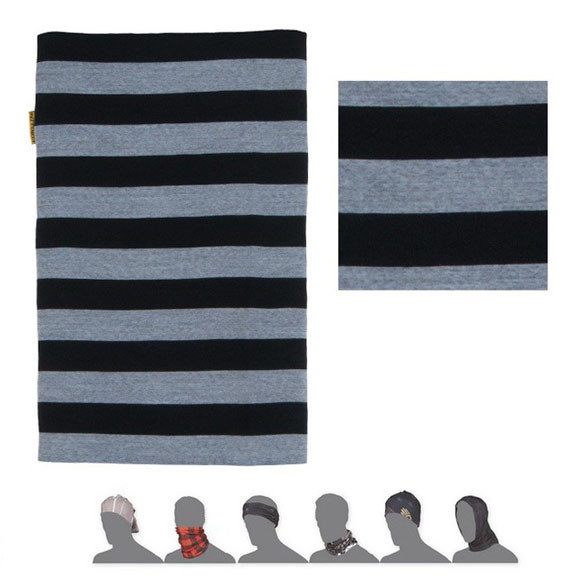 Šátek - Šátek Sensor Tube Merino Wool Barva: černá pruhy