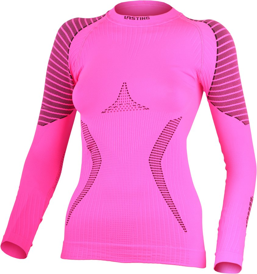 Růžové dámské termo tričko s dlouhým rukávem Lasting - velikost L-XL