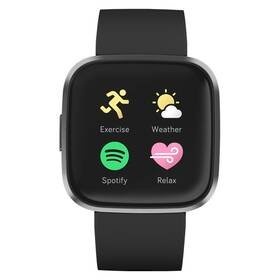 Černé chytré hodinky Versa 2, Fitbit