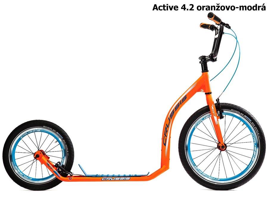 Oranžová dětská dívčí nebo chlapecká koloběžka Active 4.2, Crussis