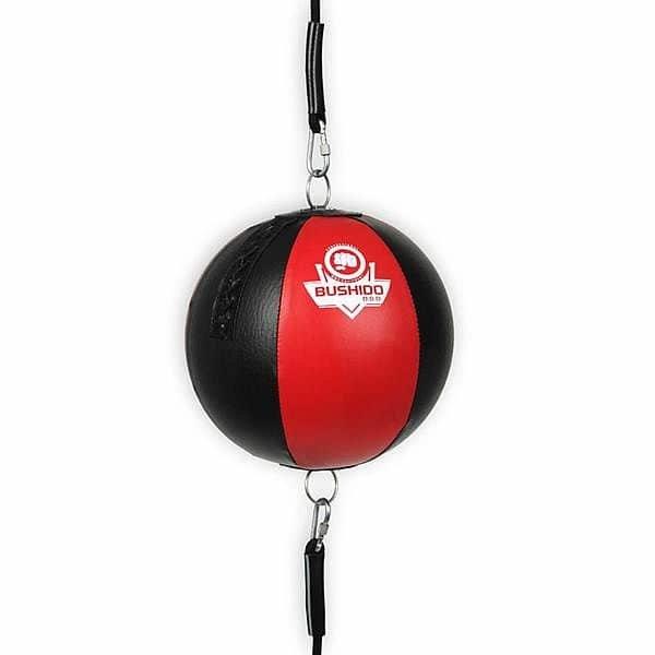 Černo-červený boxovací míč Bushido - průměr 24 cm