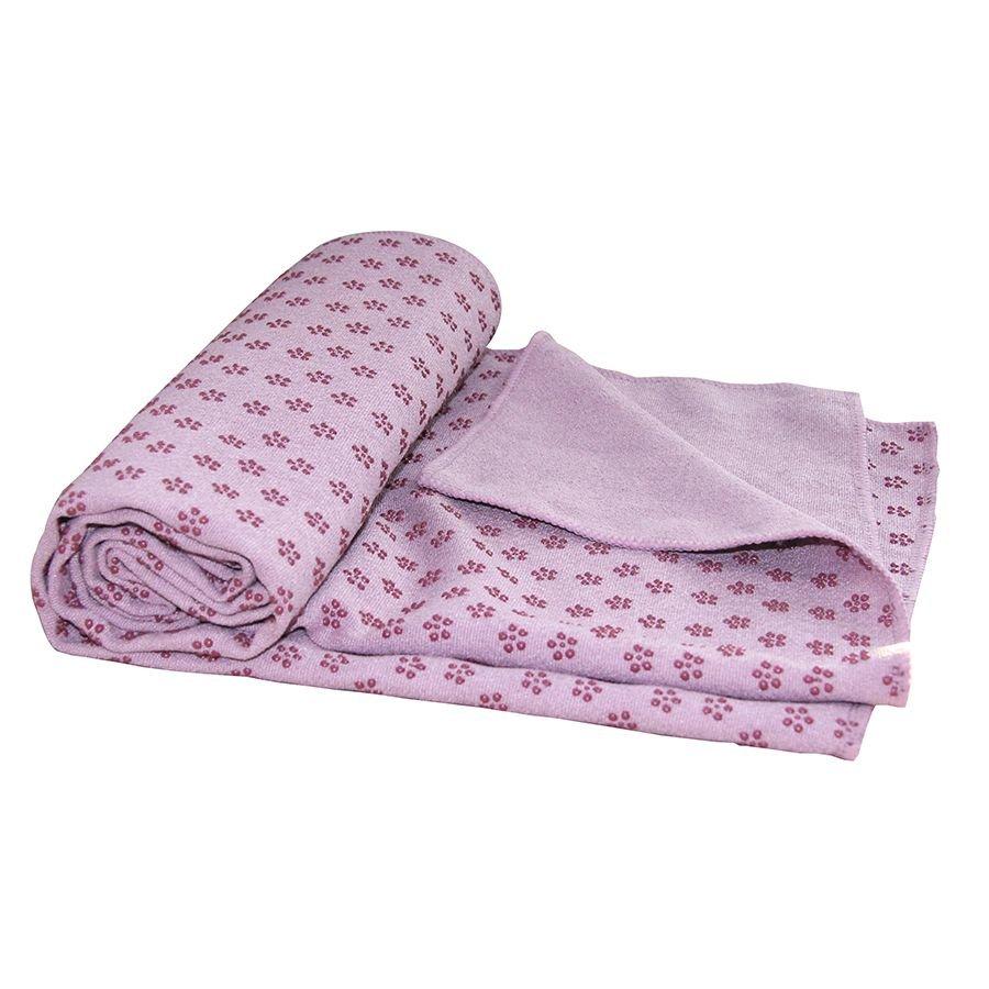 Ručník - Ručník na jógu TUNTURI 180 x 63 cm růžový s taškou