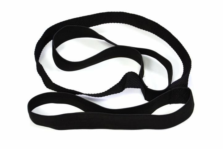 Černá podložka na cvičení Garthen - tloušťka 1,5 cm