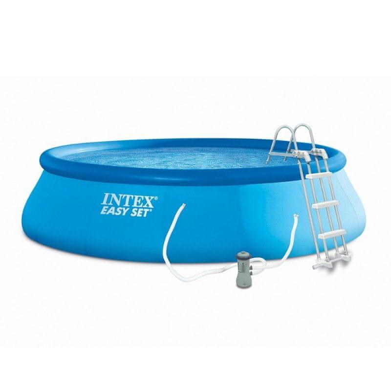 Nafukovací nadzemní kruhový bazén INTEX - průměr 457 cm a výška 107 cm