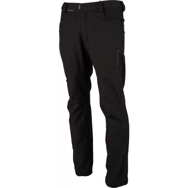 Černé softshellové pánské kalhoty Trimm