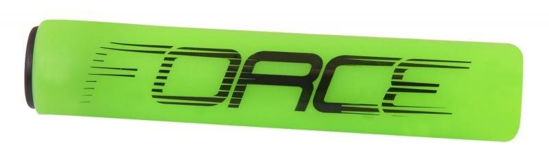 Zelené silikonové gripy na kolo Force - délka 12,5 cm