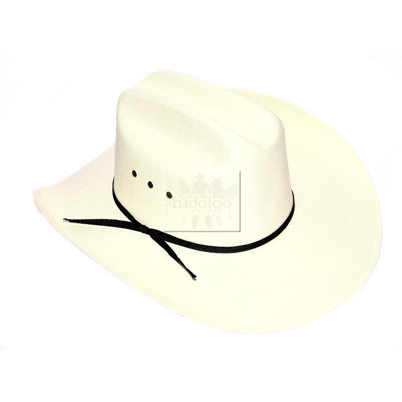 Bílý unisex jezdecký klobouk