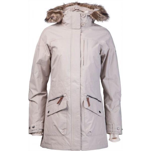 Béžový zimní dámský kabát Columbia