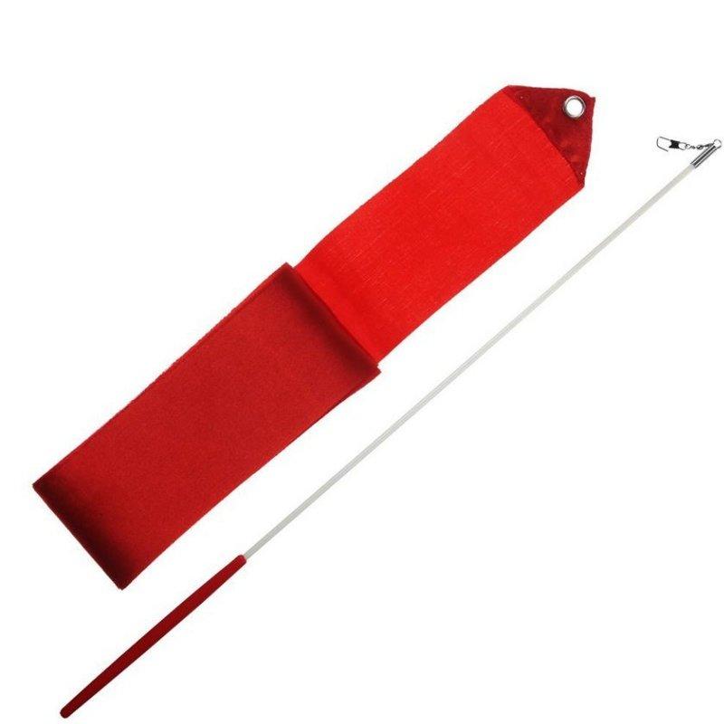 Červená gymnastická stuha Sedco - délka 3 m
