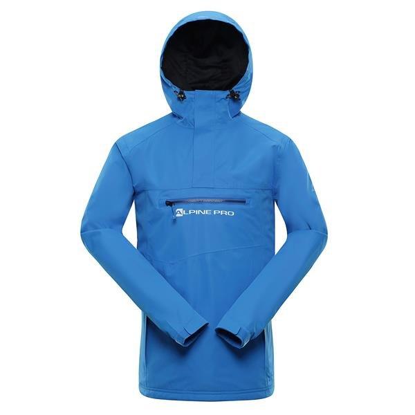 Modrá nepromokavá pánská bunda s kapucí Alpine Pro