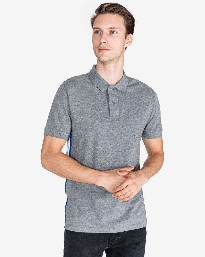 Šedá pánská polokošile s krátkým rukávem Calvin Klein