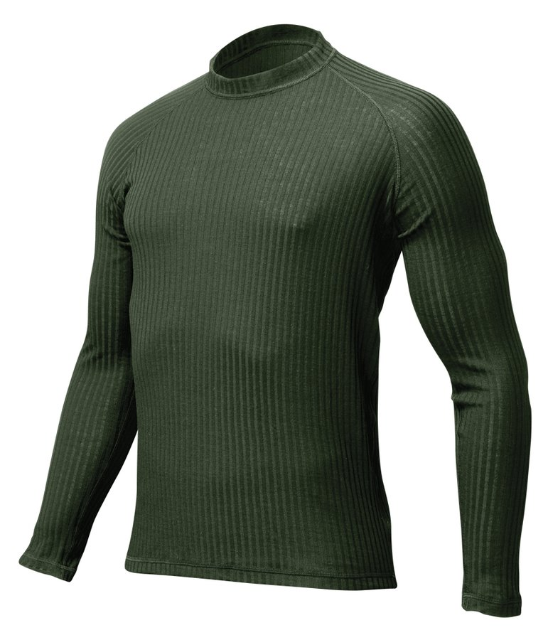 Zelené termo pánské termo tričko s dlouhým rukávem Lasting