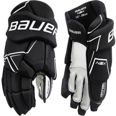 Černé hokejové rukavice NSX S18, Bauer