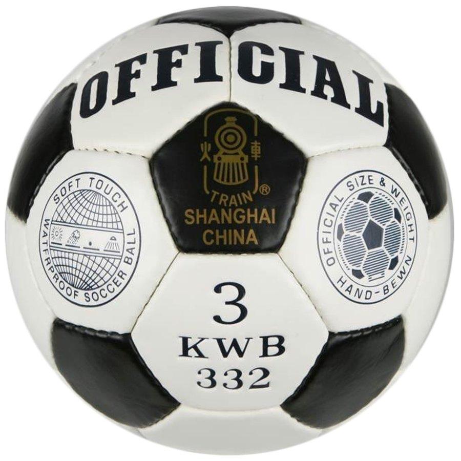 Bílo-černý fotbalový míč Sedco - velikost 3