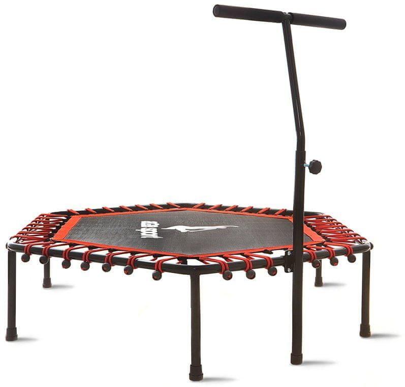 Šestiúhelníkový fitness trampolína s madlem AGA - průměr 130 cm