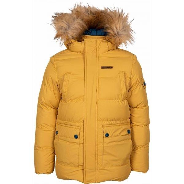Žlutá dětská zimní bunda s kapucí Head