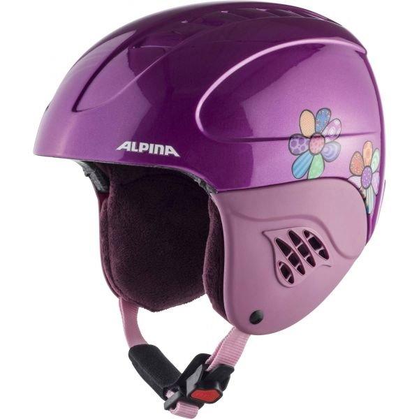 Růžová dívčí lyžařská helma Alpina - velikost 48-52 cm
