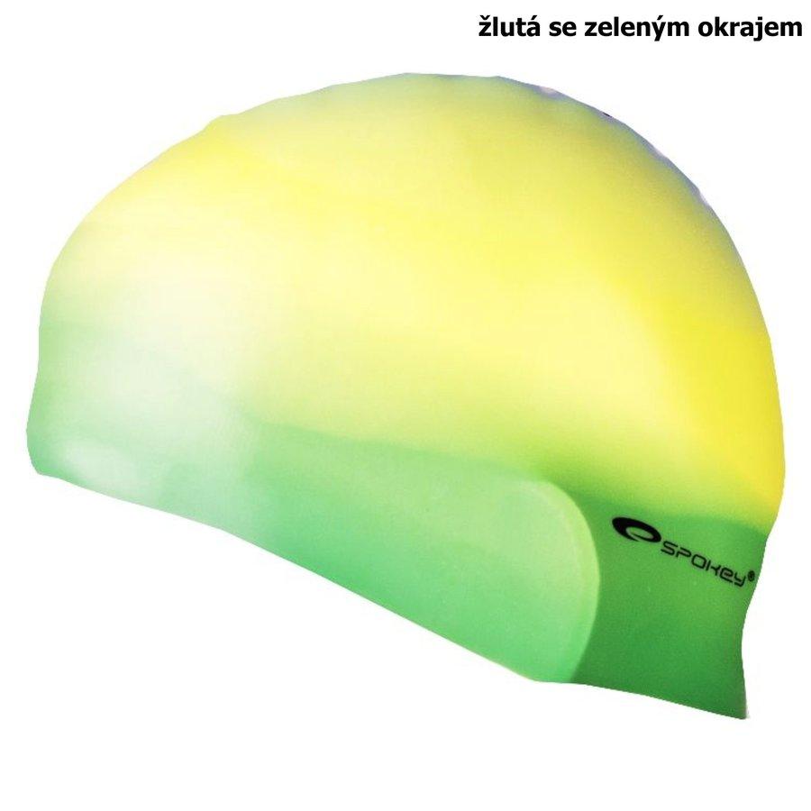 Zeleno-žlutá pánská nebo dámská plavecká čepice ABSTRACT, Spokey