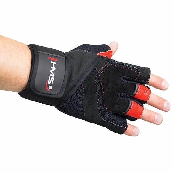 Červené fitness rukavice HMS