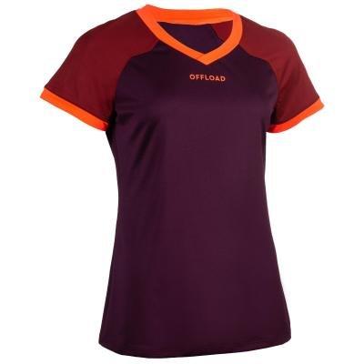 Červený dámský ragbyový dres R500, Offload
