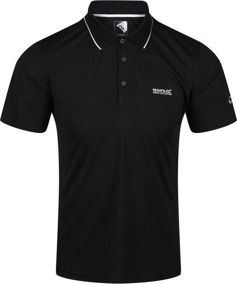 Černé pánské funkční tričko s krátkým rukávem Regatta
