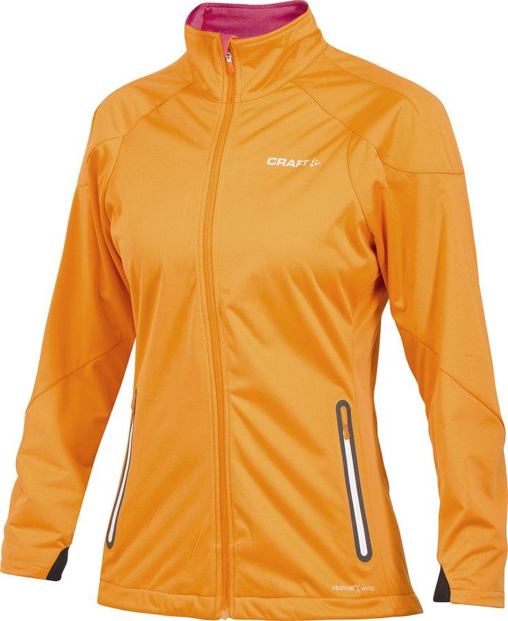 Oranžová softshellová dámská bunda Craft