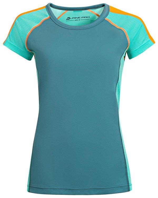 Modré sportovní dámské funkční tričko Alpine Pro - velikost XS