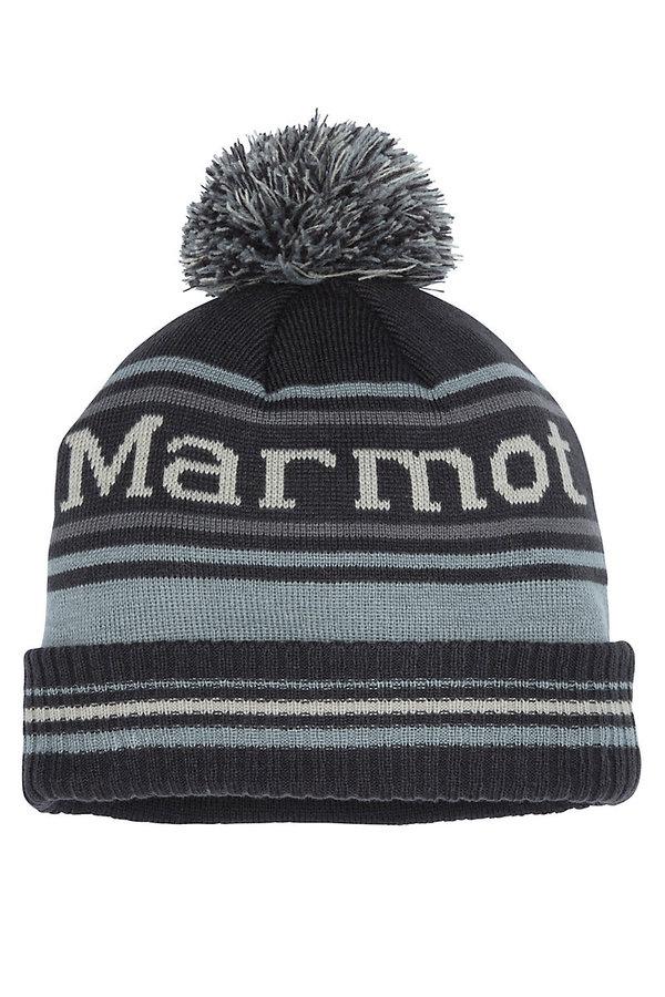 Černo-modrá zimní čepice Marmot - univerzální velikost