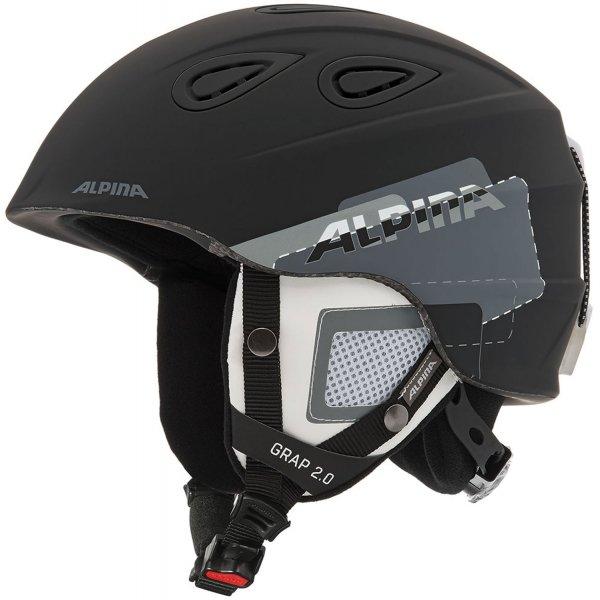 Černá lyžařská helma Alpina