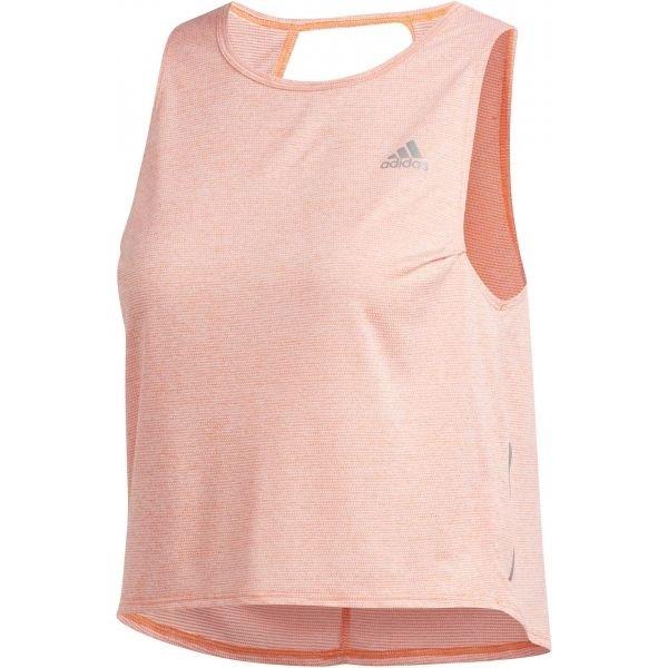 Růžové dámské tílko Adidas - velikost L